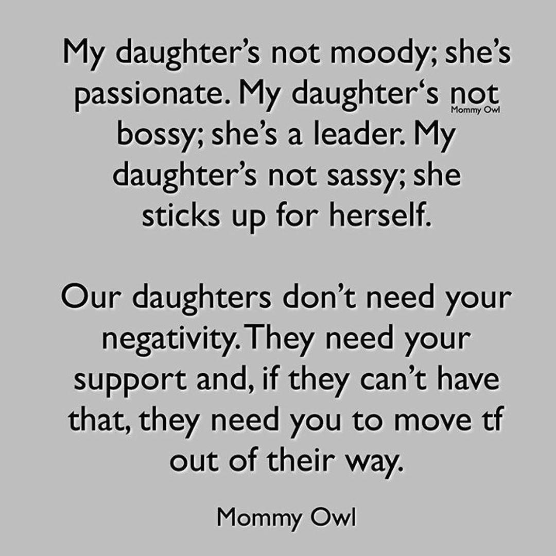 She said it better than I ever could have..Follow for more….daughters girlpower …