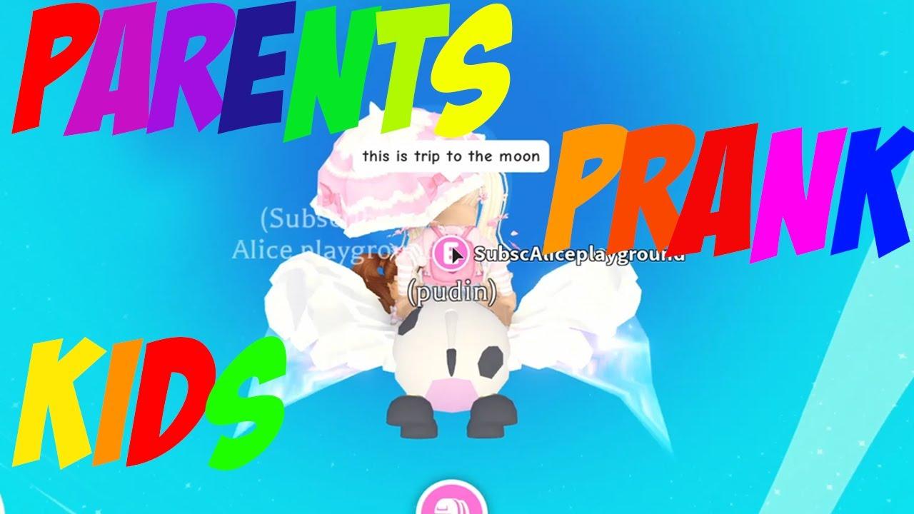 Parents PRANK kids in Adopt me Roblox FUNNY PRANKS