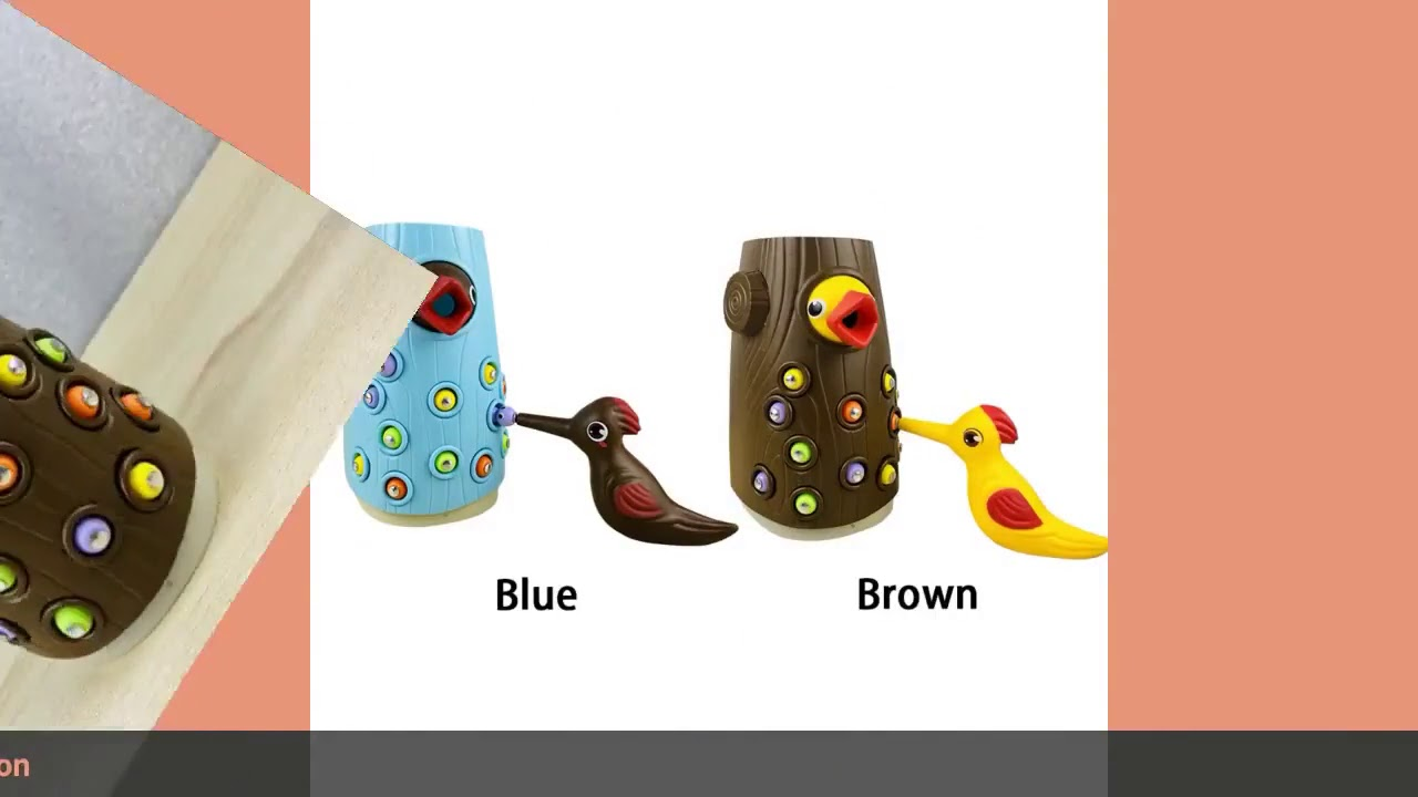 Woodpecker Toy Parents Kids Teaching Aids Children Gift Funny Life Lik