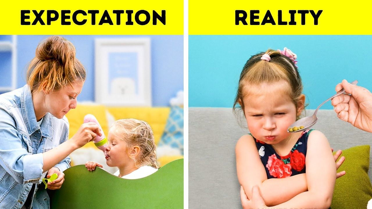 PARENTS Expectation VS. Reality Hacks For Parents, Pregnancy Funny Situations